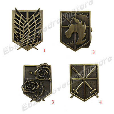 Attack on Titan Affiliation Corps Badge Metal Pin