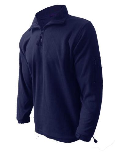 Mens Fleece Jacket Henbury Microfleece Zip Neck  Zip Sleeve Pocket XS// Small