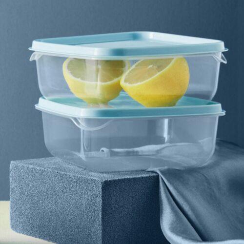 3pcs Food Storage Containers Plastic Freezer Refrigerator Food Storage Boxes