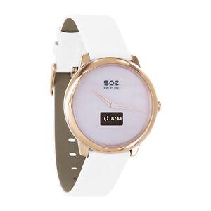 X-WATCH SOE rosé weiß Schrittzähler Smartwatch Damen Fitness iOS Android