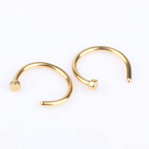 5X Nasenpiercing Ring Nasenring Nasen Piercing Titan Gold Nose Hoop Nasenstecker