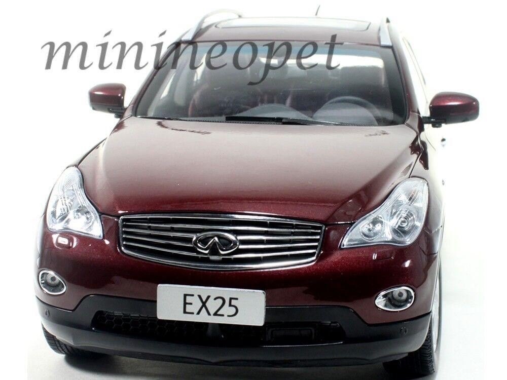PAUDI 5507 2012 12 INFINITI EX25 EX 25 SUV 1 18 DIECAST BURGUNDY