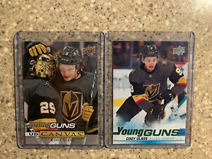 2019-2020-Upper-Deck-Series-1-amp-2-Young-Guns-Canvas-Cody-Glass-Lot-Of-2