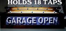 GARAGE OPEN LIGHTED 18 BEER Tap handle display BAR SIGN 3-D EFFECT