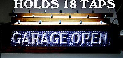 18 beer Tap handle display 3 LEVELS! //LED LIGHTED BAR SIGN PATRIOTS PUB