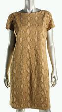 Lauren Ralph Lauren Snake Print Short Sleeves Casual Tan Dress SIZE XS Bnwt £165
