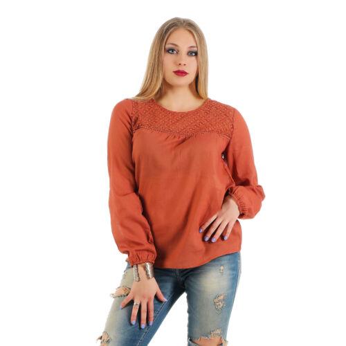 Aniston Bluse Shirt Tunika Schlupfform mit Häkelspitze Gr 36-44 472-961 Rost