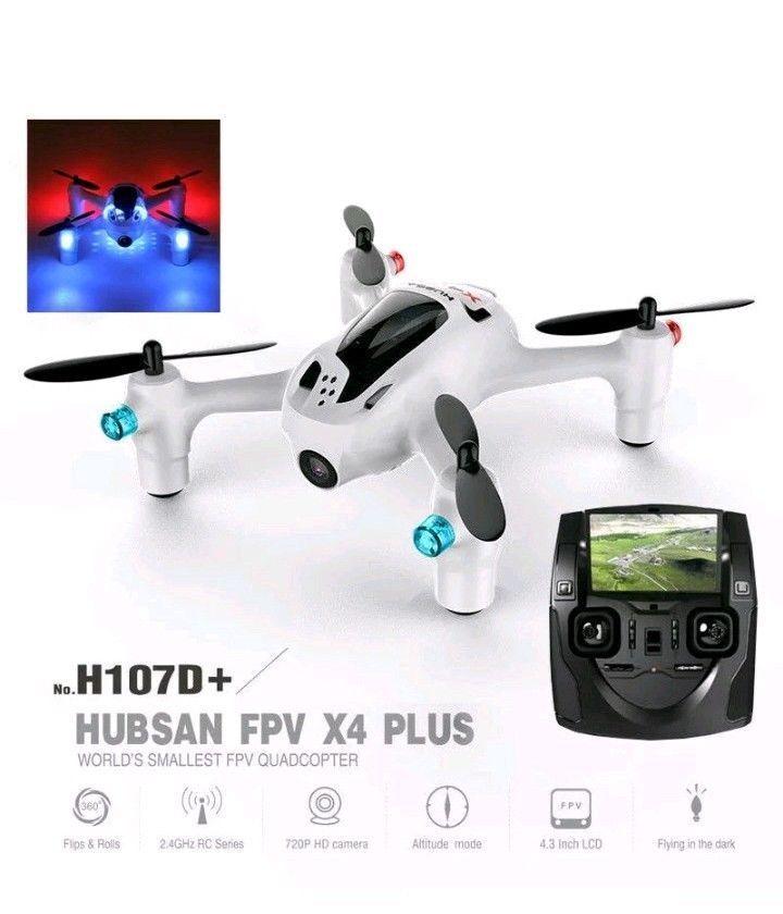 Hubsan H107D+ F X4 Plus 2.4G Mini Headless RC FPV Quadcopter 720P HD Camera RTF