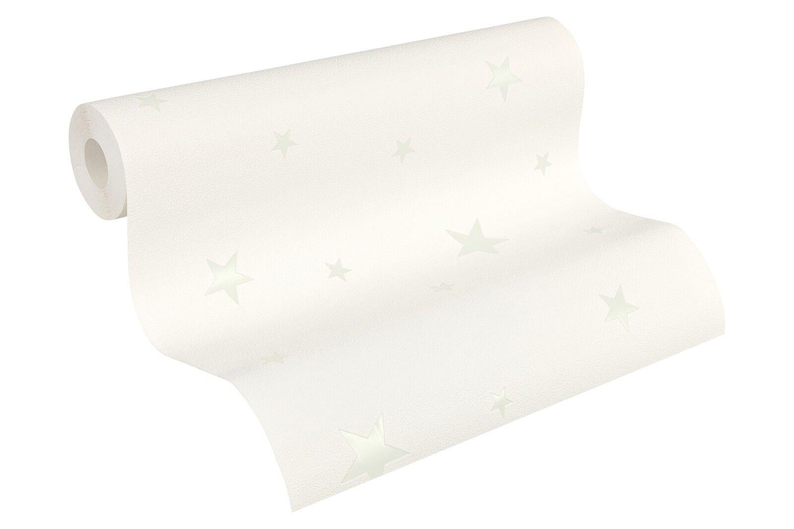 vliestapete leuchtende sterne wei 32440 1 sternchen tapete leuchttapete ebay. Black Bedroom Furniture Sets. Home Design Ideas
