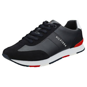 4c177eb07 Image is loading Tommy-Hilfiger-Mix-Runner-Mens-Midnight-Navy-Synthetic-