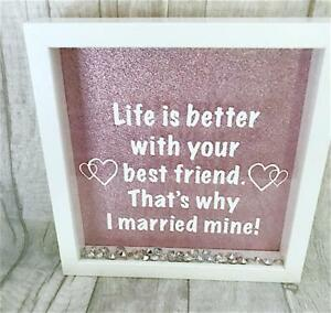 Marry Best Friend Quote Box Frame Present Gift Love Couple Home