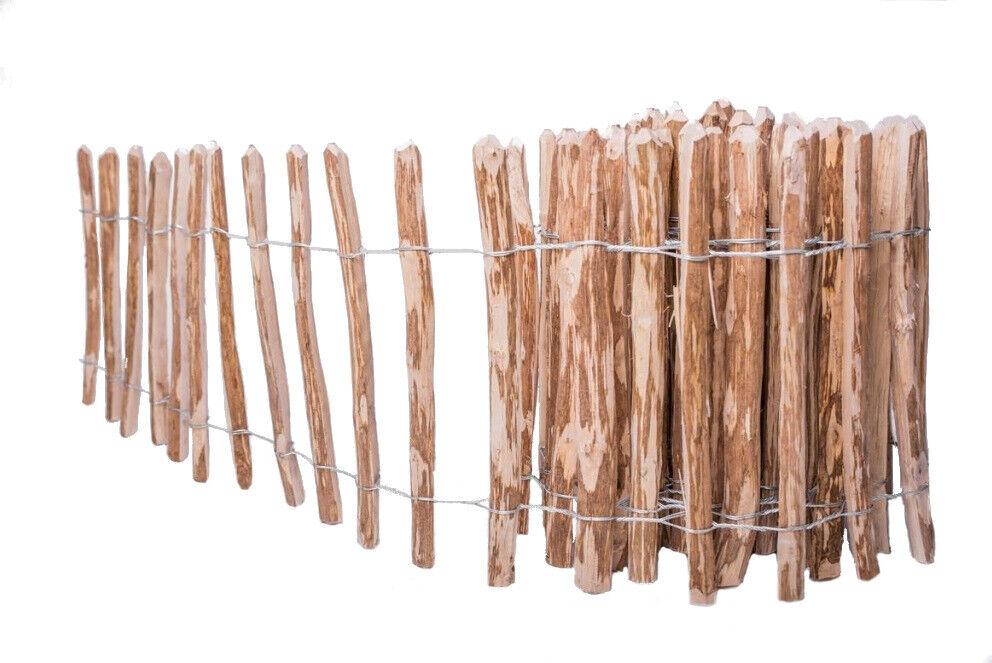 7-8cm L 1,5m Staketenzaun Holzzaun Gartenzaun Zaunlatte imprägniert H 3m