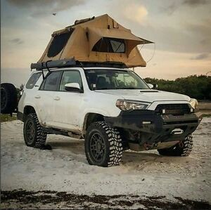 Image is loading NEW-Overland-Roof-Top-C&ing-Tent-with-Ladder- & NEW Overland Roof Top Camping Tent with Ladder Jeep Off-Road Truck ...