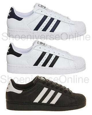 Homme Adidas Originals Superstar 2 Classique Rétro Baskets Noir Blanc Marine eBay eBay