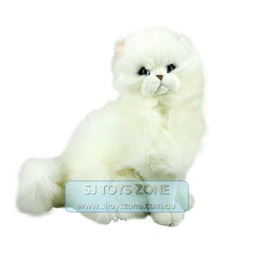 Bocchetta Plush Toys White Persian Cat 33cm Animal Stuffed Toy for Kids - Pearl