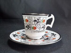 Royal-Chelsea-Platinum-Silver-2242-A-Cup-amp-Saucer