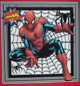 HANDMADE-3-D-SPIDERMAN-BIRTHDAY-GRETTING-CARD-WITH-A-SENTIMENT-GREAT-BUY