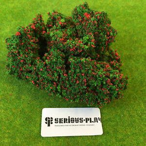 Details About Red Berry Bushes Soft Flexible Clump Foliage Tree Model Railway Wargame Scenery