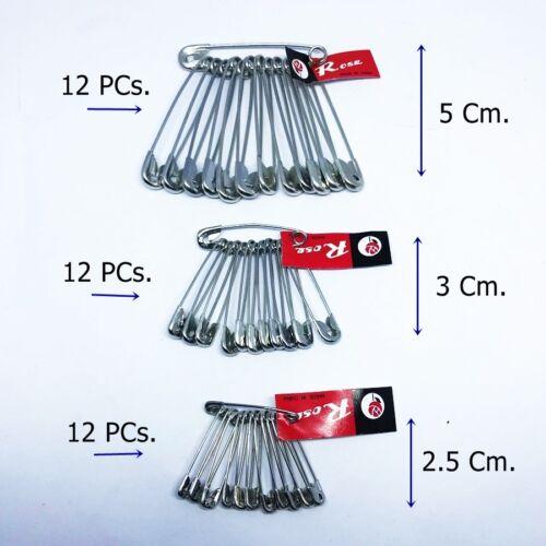 5-3-2.5 cm. Épingles De Sûreté Extra-Small Silver Sewing Craft aiguilles vêtements lot de 3