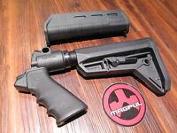 Mesa & Magpul Slimline Sl Mossberg 500 Black Pistol Grip 6 Position Stock Forend