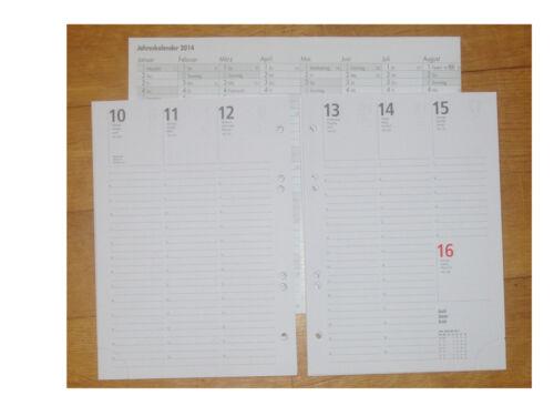 Timereinlage Ringbuchpackage DIN A5 Woche auf 2 Seiten für 2019