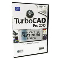Turbocad Pro 2015 Platinum Edition - Professional 2d 3d Cad Design Software.