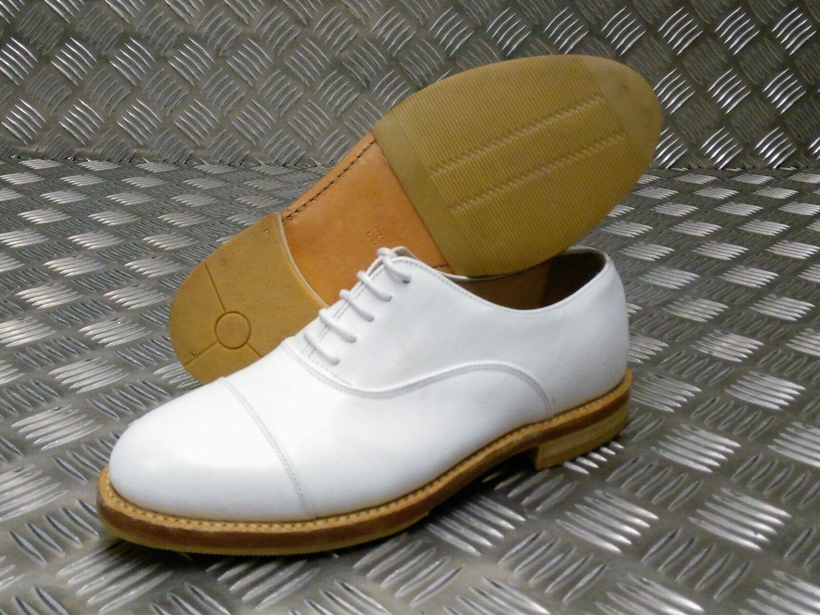 Echt Britisches Militär Ausgegeben Weiß Service Parade Schuhe Lederschuhe
