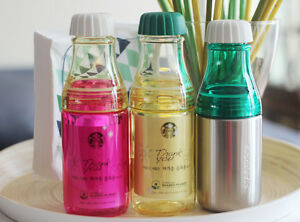 Korea Starbucks Summer Sunny Water Bottle Red Yellow Yellow Clear