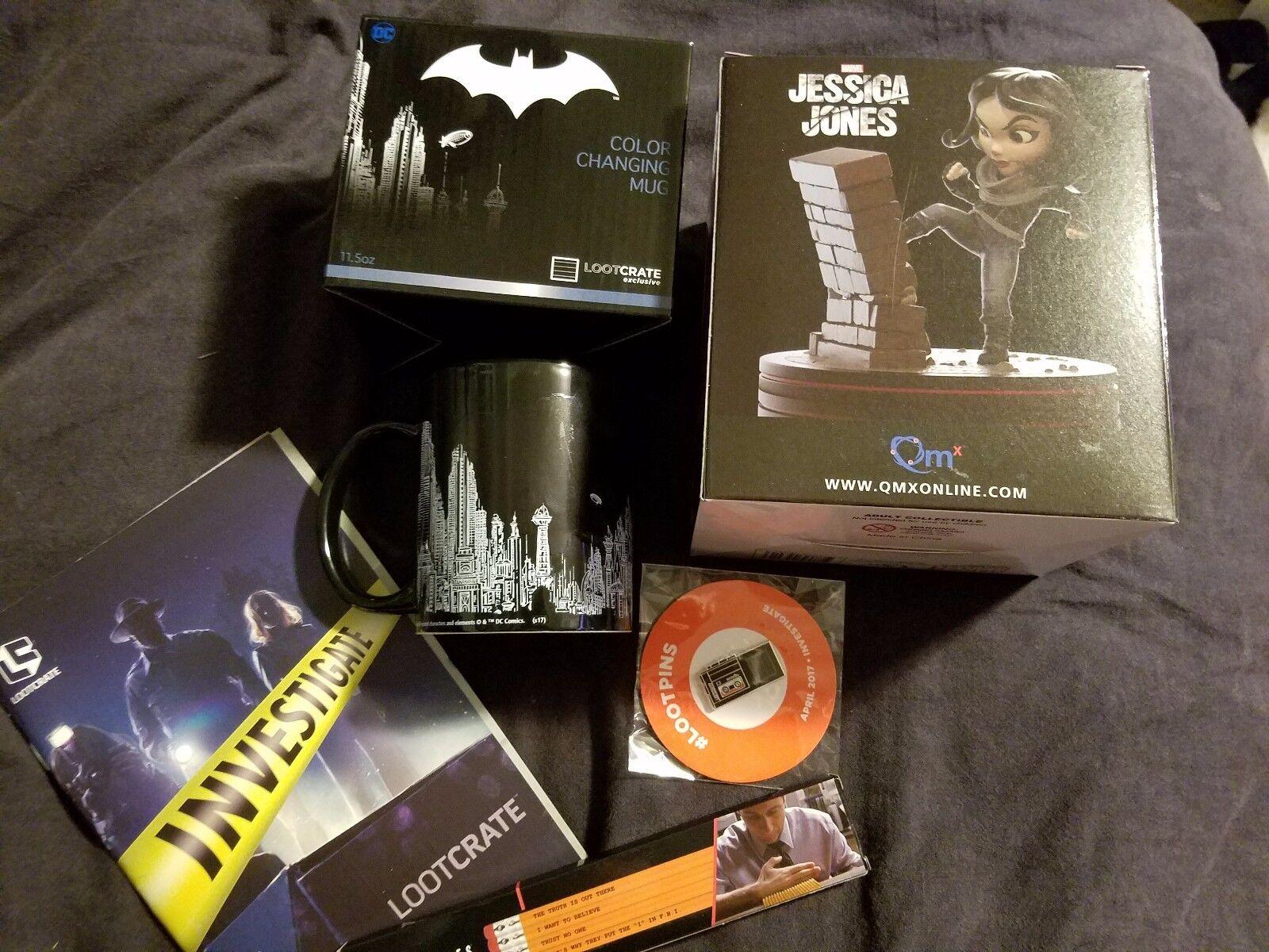 Loot Crate 2017 INVESTIGATE Batman Jessica Jones Stranger Things X-files Large
