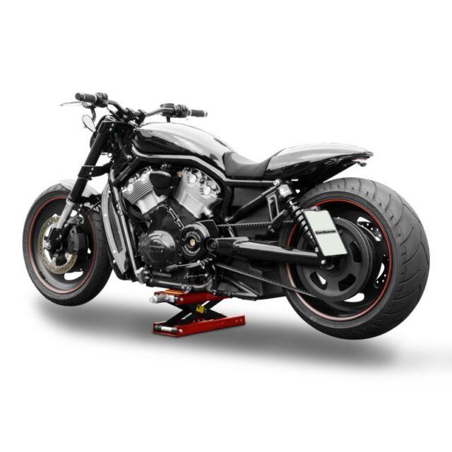 Motorrad-Heber CSMR Hebebühne Scherenheber für Chopper, Cruiser etc. Lift rot