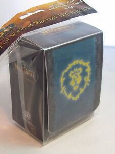 WoW WORLD OF WARCRAFT ALLIANCE DECK BOX FOR CARDS