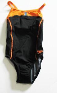 7721947648 Image is loading Speedo-Girls-Bolt-Splice-Drill-Back-PowerPLUS-Swimsuit-