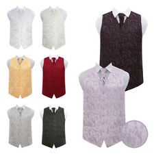 DQT Satin Plain Solid Ivory Page Boys Wedding Waistcoat 2-14 Years