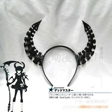 Black Rock Shooter Headband Ox horn hair Clip headdress cosplay Accessories