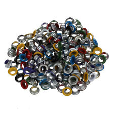 200 Metall bunte runde Ösen/Eyelets/Nieten gemischte Farben 9mm Y8