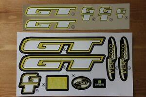 Reproduction 1997 GT Vertigo BMX Decal Set For Painted Frame