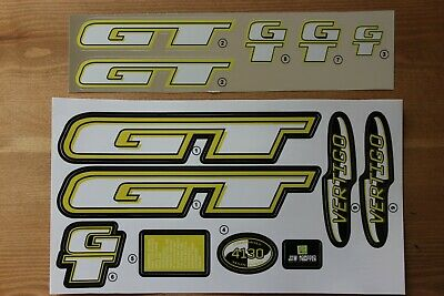 Reproduction 1998 GT Vertigo BMX Decal Set Chrome Backing