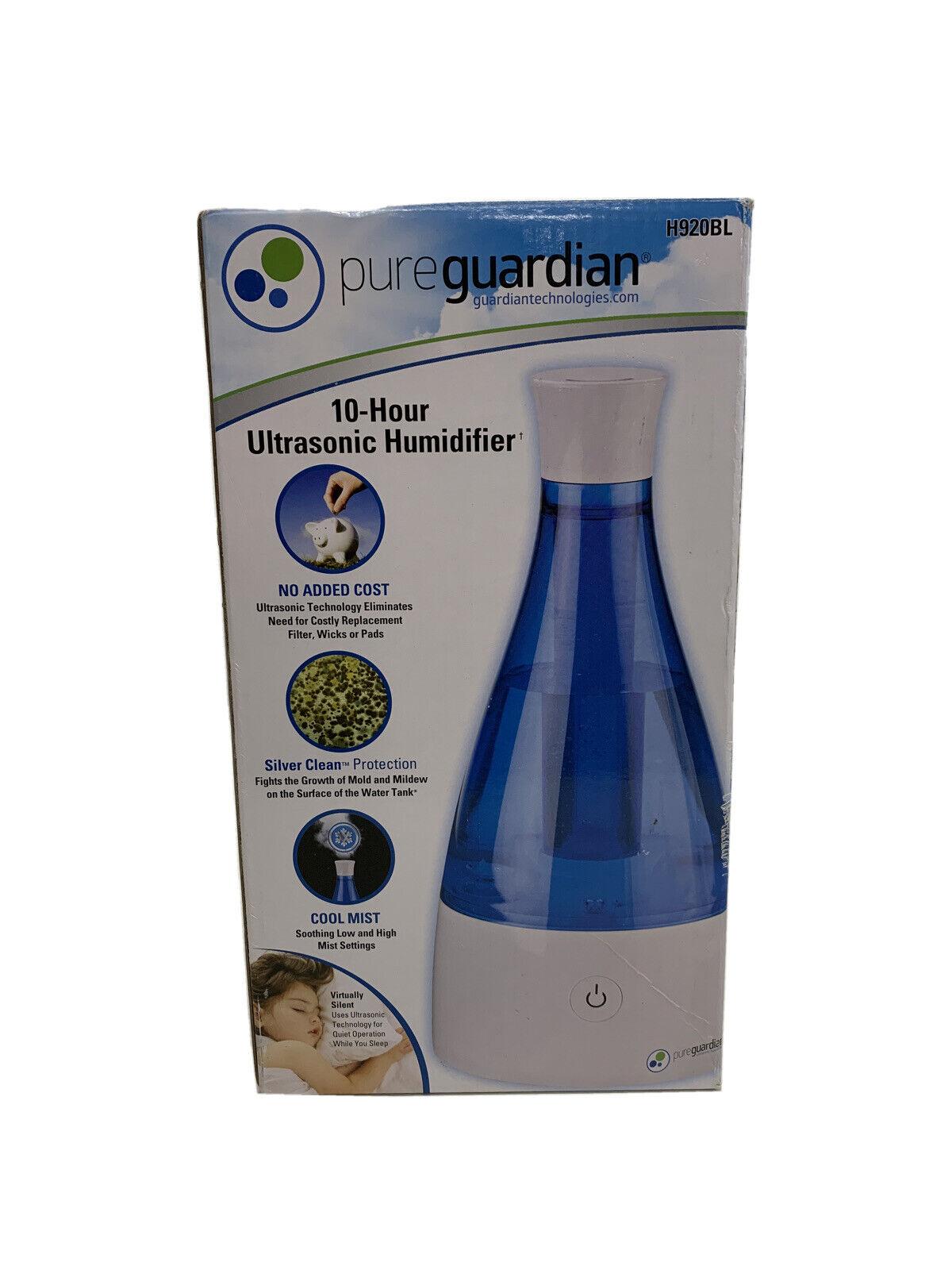 Pure Guardian H920BL Ultrasonic Cool Mist Humidifier, 10 Hrs. Run Time, 210 Sq.