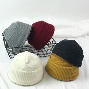 0b6b352a3d1 Men Knitted Hat Beanie Skullcap Sailor Cap Cuff Brimless Vintage ...