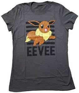 c94ca972 Mighty Fine Pokemon Eevee Leap 133 Juniors T-shirt - Charcoal ...
