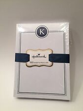 HALLMARK Letter K Initial Monogram 150 Sheet Note Pad Notes Notepad Paper NEW