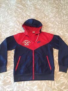 Details about Vintage NIKE Pinwheel Orange Tag US Hooded OLYMPIC TEAM Red Windbreaker Jacket M