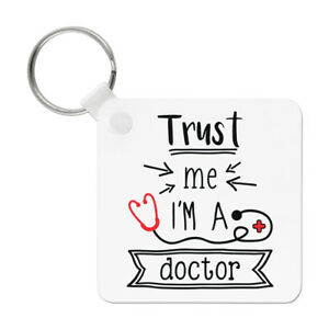 Funny Medical Trust Me I/'m A Doctor 6oz PU Leather Hip Flask Tan
