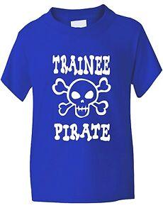 Stagiaire-Pirate-Crane-Et-Os-En-Croix-Drole-Garcon-Fille-T-Shirt