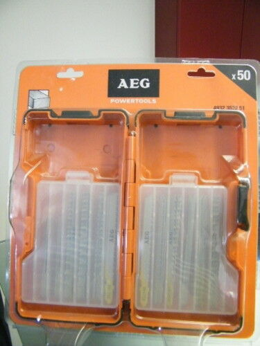 AEG Sägeblätter Holz  praktische Kunststoffbox 50tlg.