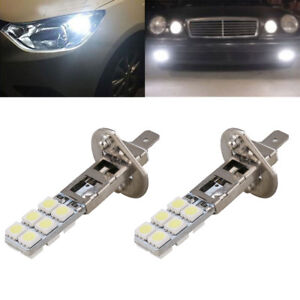 Led Replacement Headlight Bulbs >> Details About 2x H1 Replacement Headlight Fog Light Bulbs Bright White 5050 12 Led 6000k