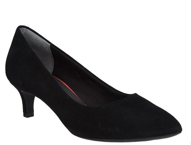 servizio onesto Rockport Total Motion Suede Kitten Kitten Kitten Heel Pumps Kaviola nero Donna  scarpe 5.5 New  vendita online