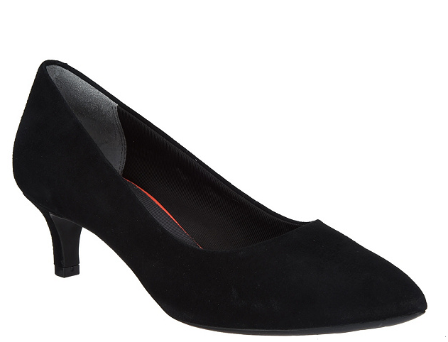miglior reputazione Rockport Total Motion Suede Kitten Heel Heel Heel Pumps Kaviola nero Donna  scarpe 5.5 New  a prezzi accessibili