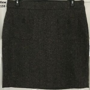 In Ehrlich Kew London 159 Size 14 Blue And Multi Coloured Woven Fabric Short Skirt Exquisite Verarbeitung