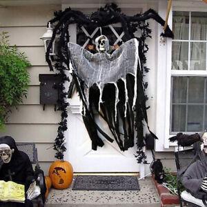 Halloween-Decorations-Outdoor-Die-Scary-Yard-Kids-Skull-Hanging-Ghost-Haunted
